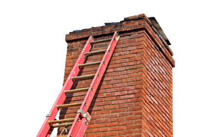 chimney and ladder